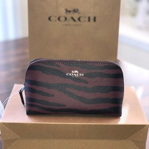 Authentic NWT Coach Tiger Striped Cosmetic Bag